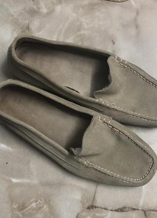 Мокасины туфли балетки 💯 % замша р 39