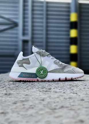 Кроссовки adidas nite jogger белые женские кроссовки адидас найтджогер