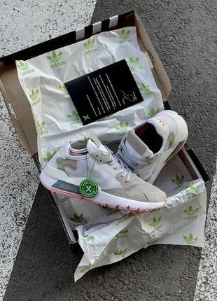 Кроссовки adidas nite jogger белые женские кроссовки адидас найтджогер7 фото