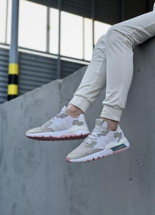 Кроссовки adidas nite jogger белые женские кроссовки адидас найтджогер8 фото