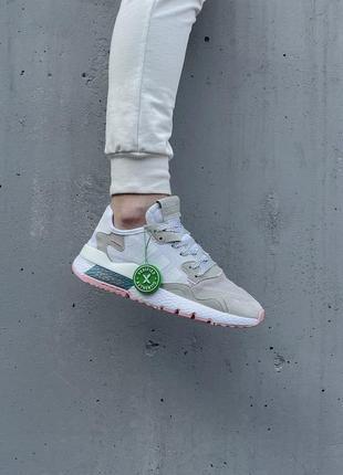 Кроссовки adidas nite jogger белые женские кроссовки адидас найтджогер9 фото