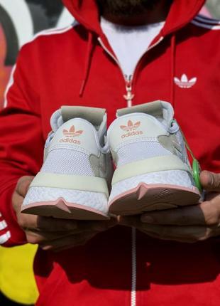 Кроссовки adidas nite jogger белые женские кроссовки адидас найтджогер5 фото