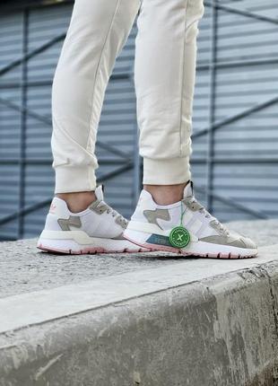 Кроссовки adidas nite jogger белые женские кроссовки адидас найтджогер4 фото