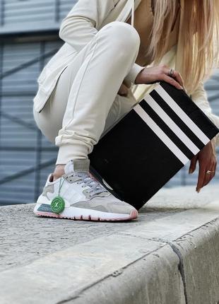 Кроссовки adidas nite jogger белые женские кроссовки адидас найтджогер6 фото