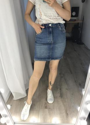 Джинсовая юбка zara мини