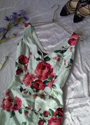 Renato nucci шикарное шелковое платье в цветы в стиле dolce & cabbana
