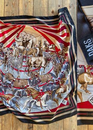 Фирменный стильный качественный натуральный платок из шёлка