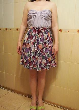 Платье сарафан smash xl хлопок цветы