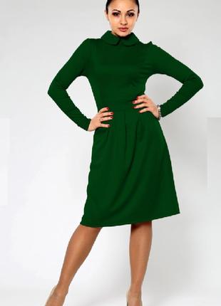 Платье зеленое миди