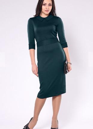 Платье темной бирюзы миди