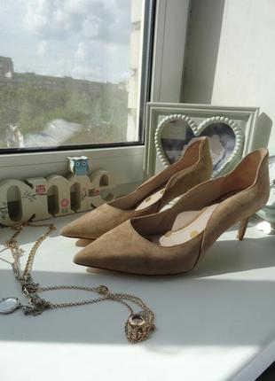 Туфли натуральная замша внутри кожа