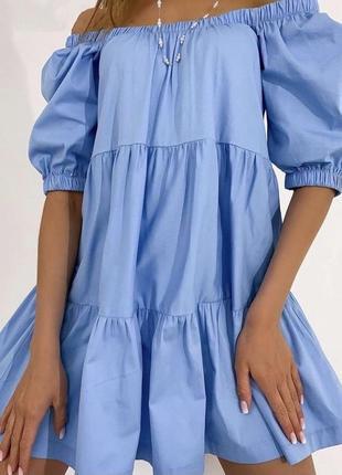 Платье с открытыми плачами🥰