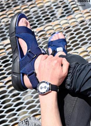 Босоножки мужские синие текстильные удобные