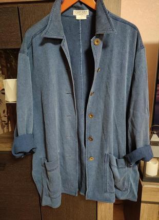 Оверсайз жакет джинс рубашка jaeger