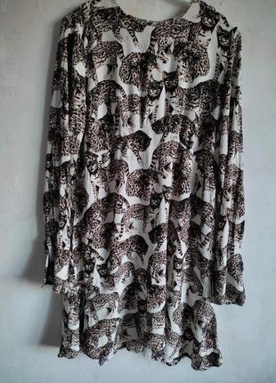 Платье рубашка h&m вискоза