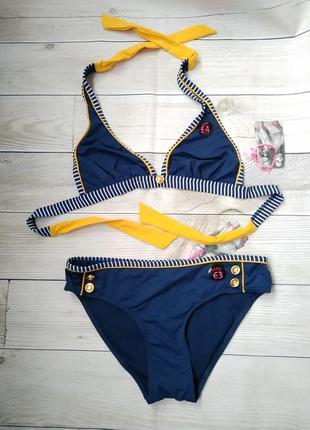 Новый раздельный купальник синего цвета, размер s1 фото
