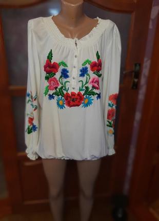 Вышиванка вышивка блузка вышитая рубашка с цветами блуза ручная вышивка