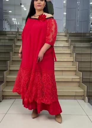 Платье большого размера р. 54-66.