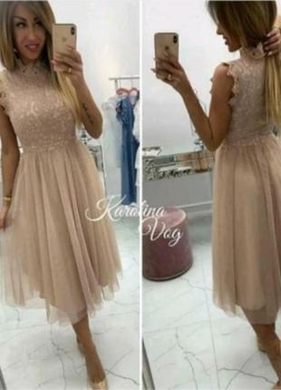 Кружевное шикарное платье