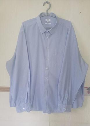 Легкая рубашка в мелкую полоску р.19