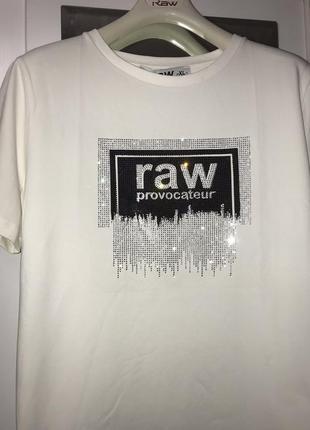 Raw стильная женская футболка турция