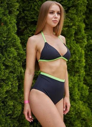 Женский пляжный купальник ramp black+salad