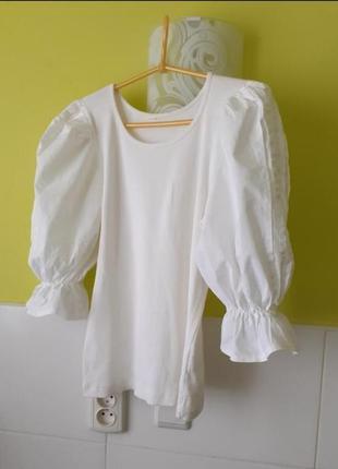 Актуальная кофта кофточка блуза блузка футболка с пуфф рукавами