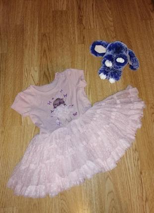 1+1=3 платье сарафан на девочку с фатином плаття