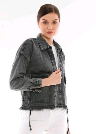 Джинсовка оверсайз піджак куртка жіноча