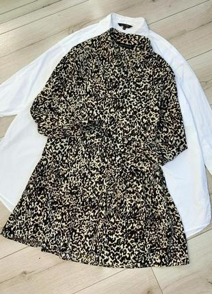 Платье принт тигр zara