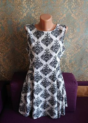 Красивый фактурный сарафан платье с молнией на спине