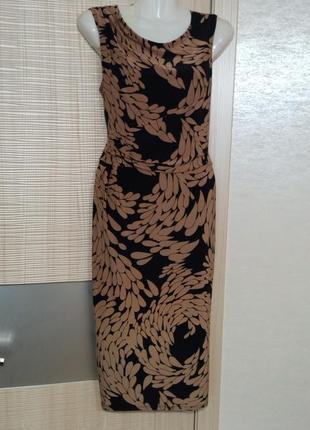 Акция 1+1=3🤩🤑эластичное красивое платье миди с принтом