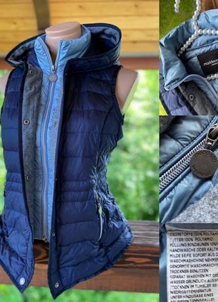 Фирменная стильная качественная натуральная ультралегкая жилетка безрукавка