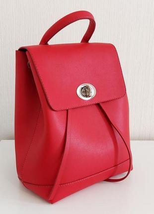 Красный матовый городской модный лаконичный рюкзак