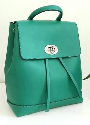 Зеленый модный 2021 рюкзак для девушек городской матовый мини-рюкзак