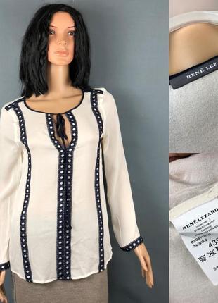 Rene lezard лёгкая блуза шелк