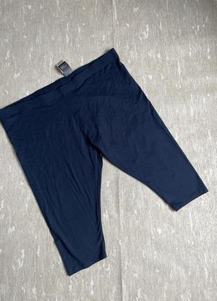 Темно синие хлопковые капри esmara большой батальный размер