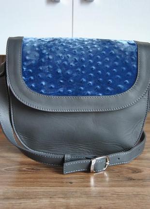 Кожаная сумка кроссбоди connibi / шкіряна сумка