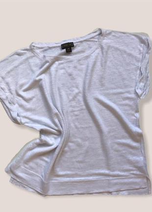 Белая льняная футболка point sur