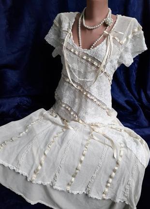 Ночная рубашка сорочка пеньюар набивные кружева натуральный шелк атласная лента