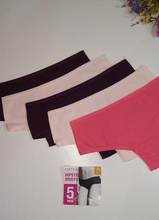 🔥комплект жіночих трусиків(hipster) esmara lingerie характеристики  ✓без шва ззаді