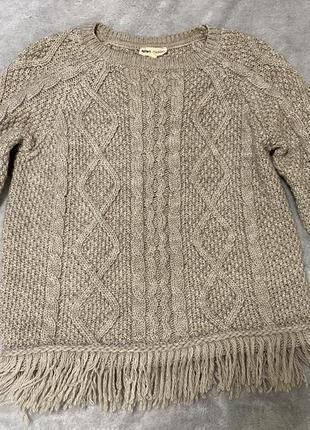 Тёплый зимний свитер