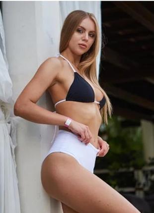 Женский пляжный купальник gabara black+white