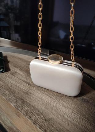 Клатч вечерний нюдовый сатин сумочка вечерняя6 фото