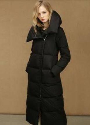 Zara пуховое пальто