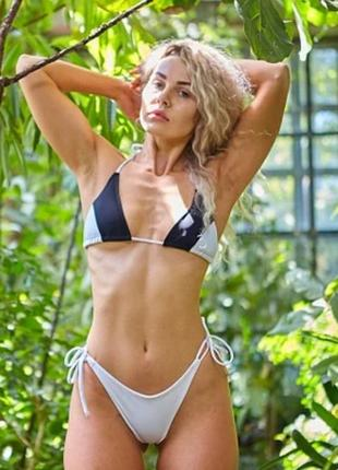 Женский пляжный купальник diera black+white
