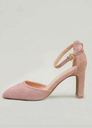 Женские замшевые босоножки туфли/экозамш.
