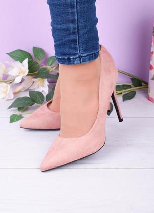 Пудровые туфли на шпильке