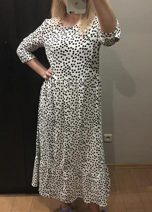 Платье в горохи roman