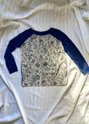 Легкая кофта, лонгслив, блуза с цветочным орнаментом